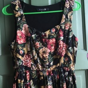 Forever 21 VINTAGE Inspired Floral Tank Dress